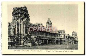 Postcard Ancient Ruins Cambodia Angkor Vath D Angkor Facade north of the 2nd ...
