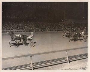 MEADOWLANDS Harness Horse Race , WHATA BARON winner, 1978