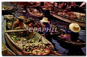 Postcard Modern Thailand Floating market thailand