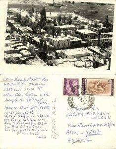 india, Ladakh, LEH, Himalayas, Partial View, Main Street (1975) RPPC Postcard