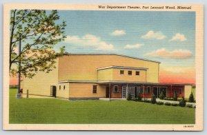 Fort Leonard Wood Missouri~War Department Theatre~WWII Era~1941 Linen Postcard