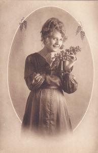 Woman with grapes portrait , 00-10s 2/6