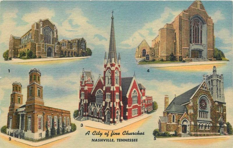 Nashville Tennessee a city of fine churches USA