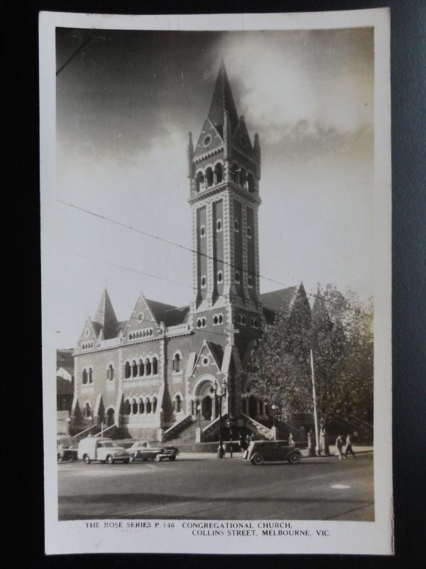 Australia: MELBOURNE Congregational Church, Collins Street Old RP PC