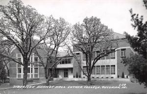 Decorah IA Luther College Brandt~World Series Yanks 2, Milw. Braves 0 RPPC 1958