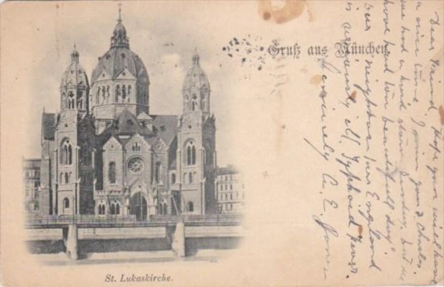 Germany Muenchen St Lukaskirche 1915