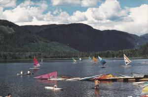 Windsurfing, Lots to do on Alta Lake, Whistler, British Columbia, 50-70s