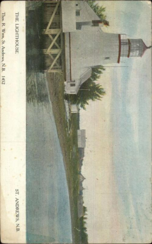 St. Andrews NB Lighthouse c1910 Postcard