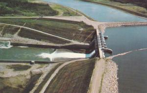 Squaw Rapids Hydro Dam, Northeastern Saskatchewan, Canada, 40-60s