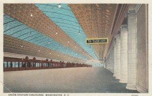 WASHINGTON D. C., 1900-10s; Union Station Concourse