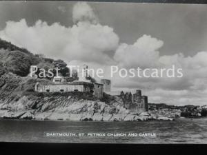 Old RPPC - Dartmouth, St. Petrox Church and Castle