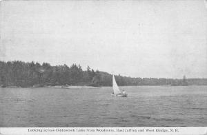 East Jaffery New Hampshire West Rindge Contoocook Lake Vintage Postcard JD933699