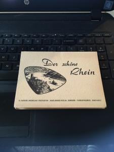 Vintage Souvenir Postcard set of 12 - Der Schone Rhein  Germany