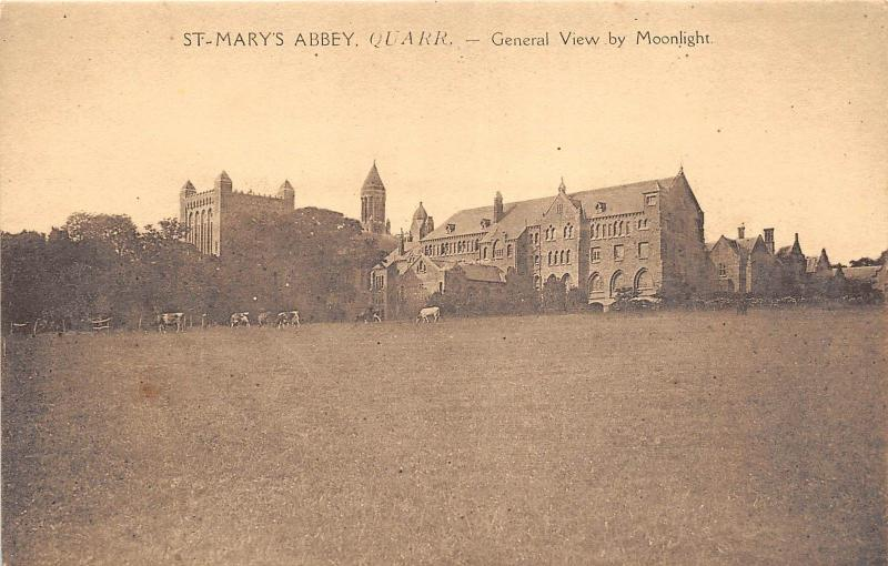 BR58867 st mary s abbey quarr general view by moonlight    uk