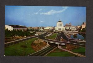 CA Super Highway Hwy Oakland California Postcard Auditorium Court House
