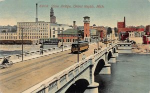 Stone Bridge, Grand Rapids, Michigan, Early Postcard