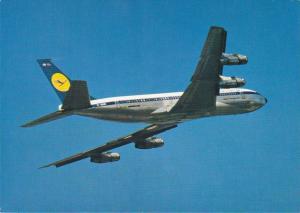 Lufthansa, Boeing 707 Intercontinental Jet in flight, 40-60s
