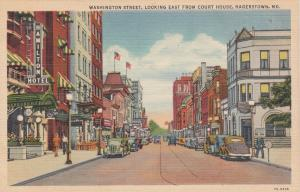 HAGERSTOWN, Maryland, 1930-40s; Washington Street, Looking East From Court House