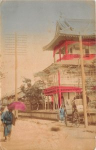 US3076 japan china to identify chariot rural scene sent to germany
