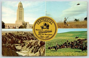 Nebraska~1867-1967 Centennial~Cattle Range~Pheasant Hunting~Bird Dog~Capitol