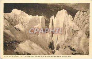 Old Postcard Chamonix Ice Pyramids Glacier des Bossons