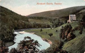 Scotland, UK Old Vintage Antique Post Card Neidpath Castle Peebles Unused