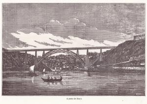 Gustave Eiffel Tower Old French Railway Engineer Ponte Maria Pia Bridge Postcard