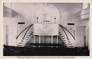 Restored Pulpit First Presbyterian Church New Berk North Carolina