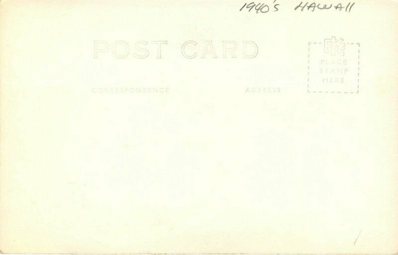 Hawaii Palms Rice Fields #H-231 1940s RPPC Photo Postcard 20-3553