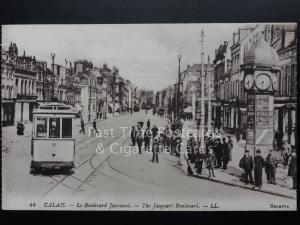 France: CALAIS - Le Boulevard Jacquard, showing Tran No.12, Levy LL.44 (Selecta)