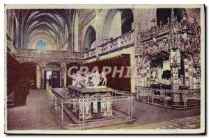 Old Postcard Around Bourg Ain Brou Church Choir