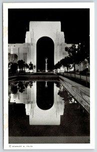 San Francisco CA~GGIE World's Fair~Court of Reflections @ Night~Arch~Piltz B&W