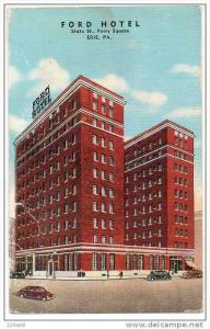 Ford Hotel Perry Square , Erie , Pennsylvania , PU-1942