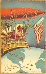Santa Claus Post Card Old Antique Vintage Christmas Postcard Reproduction Pos...
