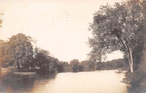 West Upton MA Pratt or Mill Pond~RPPC 1906 To Milford Libbey, Westboro
