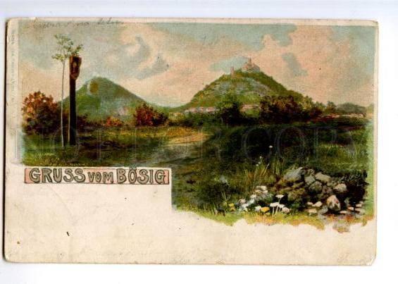 172075 CZECH Republic GRUSS vom BOSIG Vintage postcard