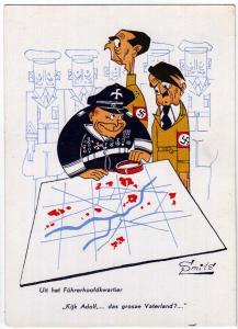 Hitler, Uit het Fuhrerhoofdkwartier artist signed Smits