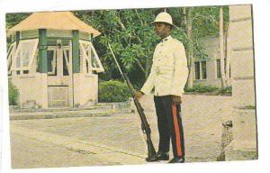 Sentry & Sentry Box at Government House, Bridgetown, Barbados, British West I...