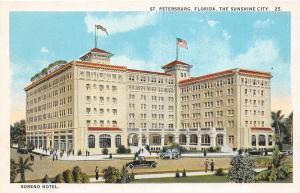 F29/ St Petersburg Florida Postcard c1915 Soreno Hotel Building