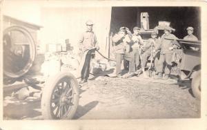 B68/ Occupational Real Photo RPPC Postcard Workers c1930 Belt Drive Machine 7