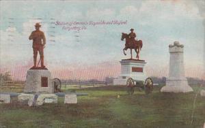 Statues Of Generals Reynolds And Buford Gettysburg Pennsylvania 1910