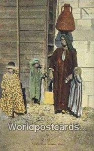 Femme arabe corteuse d'eau Caire Eqypt Unused