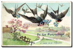 Fancy Old Postcard From La Pommeraye they bring you these flowers and all my ...