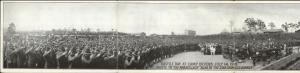 Camp Devens Ayer MA WWI Bastile Day Celebration Tri-Fold Panorama Postcard c1910