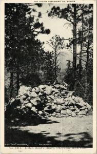 Helen Hunt's Grave Cheyenne Mountain CO Colorado Thayer 1908 Postcard E47 *As Is