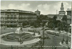 Italy, Milano, Largo Cairoli e Monumento a Garibaldi