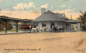 LP75   Depot Bennington  Vermont Postcard R.R. Station