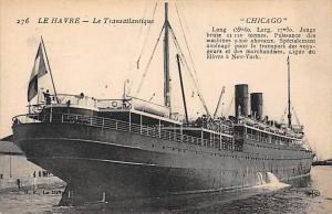 5697  S.S. Chicago   in Port Le Havre  C.G. Transatlantique  Line