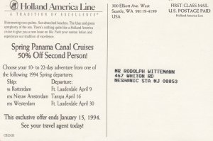STEAMERS; 1950-1960's; Spring Panama Canal Cruises
