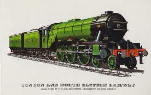 London & North Eastern Railway Class A3 4472 Flying Scotsman Old Train Postcard